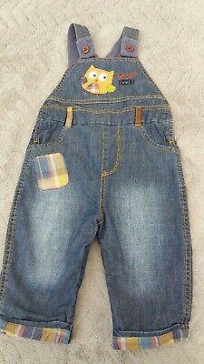 Mothercare Baby Boys 3-6 Months Kids Clothes Denim Dungarees Play-suit Jump-suit