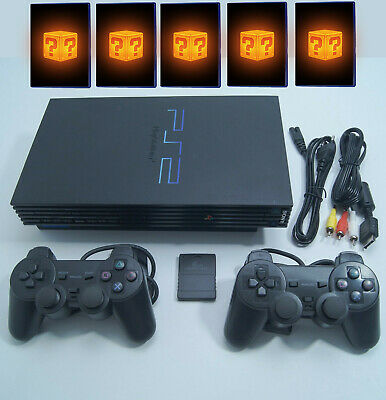 Sony Playstation 2 / PS2 FAT Konsole + 2 Controller + Kabel