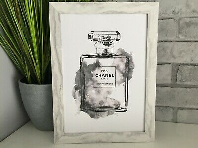chanel perfume fashion art picture poster decor kitchen bedroom dressing room A4
