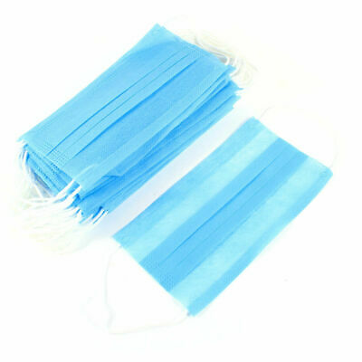 Medical Face Mask 3-layer Disposable Dental Industry Dust Proof Respiratore 50pc