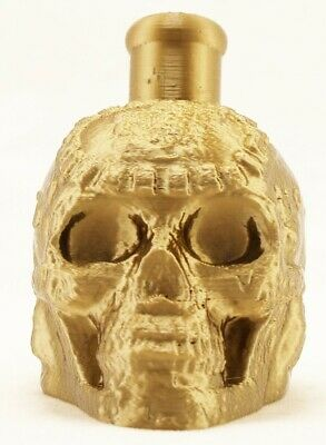 Mayan / Aztec Death Whistle Ancient Gold Skull High Quality 3D Printed In Usa