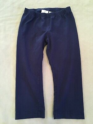 Hanna Andersson 140 Leggings Navy Blue Capris Crops