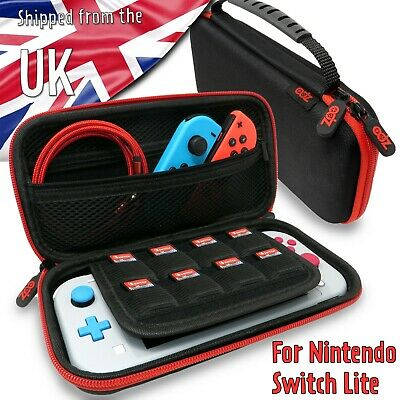 Black Nintendo Switch Lite Protective Hard Shell Storage Carry Case Pouch