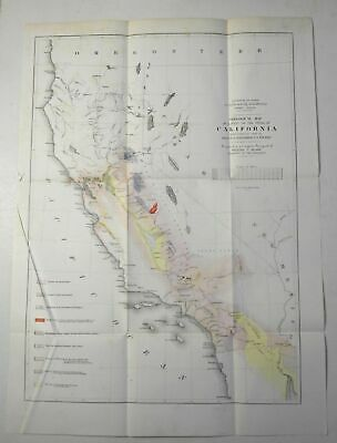 California U.S. Topographical Engineers Survey 1853 Williamson Expedition map