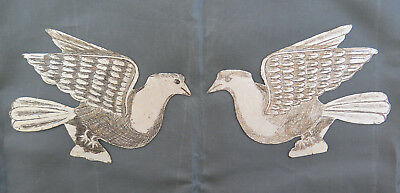 Pair of Fret Decorative Wrought Iron Painted Engraved a Engraving CH13 97 98