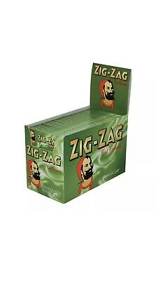20 Packs ZIG ZAG GREEN RIZLA ROLLING PAPERS 1000 PAPERS Cigarette