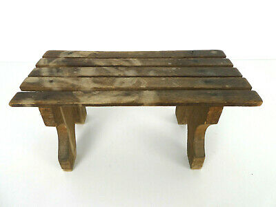 Vintage French Cracket Stand Bench Stool Display Wooden Treen Antique