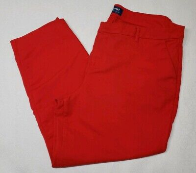 Old Navy Women's Size 16 Regular Red Harper Mid RIse Crop Pants *Flaw