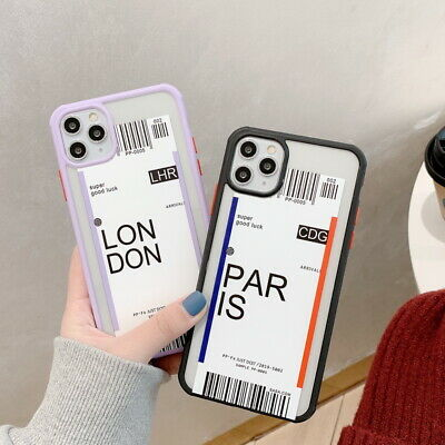 For iPhone 11 Pro Max XS XR 8 7 Plus Label Pattern Shockproof Hybrid Case Cover