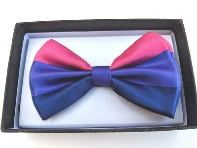 New GAY LESBIAN Rainbow SUSPENDERS and BOW TIE COMBO SET LGBT Adult USA SELLER