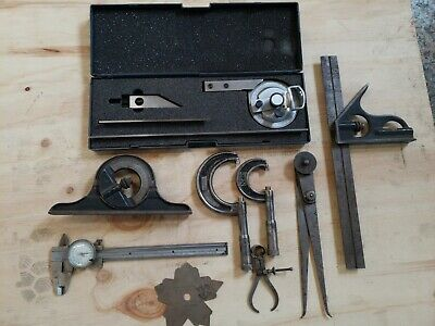 Machinist Tool Lot Vintage Starrett JT Slocomb Union Tool Co. All Preowned