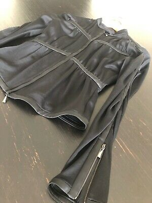 STUNNING GIORGIO ARMANI BLACK TOP BLOUSE size 0 to 2 Excellent Condition