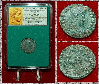 Ancient Roman Empire Coin Of CONSTANTIUS GALLUS Soldier Spearing Fallen Horseman