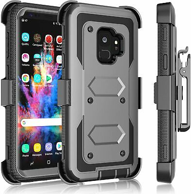 Samsung Galaxy S9 Plus Shockproof w/ Kickstand Belt Clip Holster Cover Case NEW