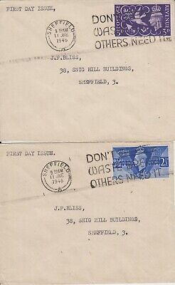 GB 1946 KGVI Victory First Day Cover FDC Don't Waste Bread Others Need It
