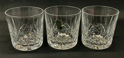 3 x Waterford Crystal Whisky Tumblers / Glasses 'Lismore' (cut, spirit, drink)