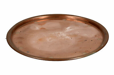 An Arts & Crafts copper tray Round