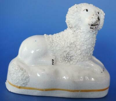 Antique Staffordshire Pottery Figure of a Poodle Dog Animal