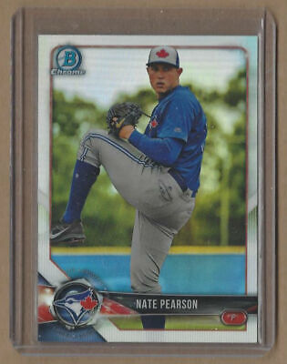 NATE PEARSON 2017 Bowman Chrome Draft Rookie Card Blue Jays #1 Pitching Prospect