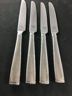 Set//s 4 Reed /& Barton LINCOLNSHIRE Dinner Place Knives 18//10 Stainless Flatware