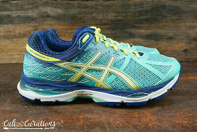 ASICS GEL CUMULUS 16 Blue Green Women's Running Shoes T469N
