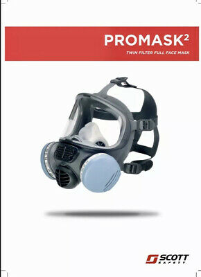 Scott Safety Promask / Promask 2 Part No. 5512890 With 2x Spirotek F9500 Filters
