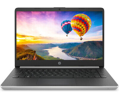 "HP 14"" HD Intel 10th Gen. i5-1035G4 Quad 3.7GHz 128GB SSD 4GB RAM Win 10 Silver"