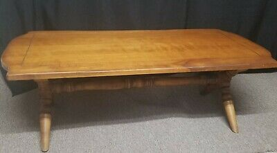 Vintage Original Cushman Colonial Maple Coffee Table