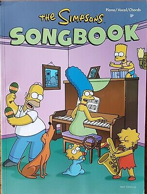 The Simpsons Song Book Guitar Vocal Piano Tab Music Book