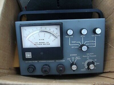 Vintage Ysi Model 57 Dissolved Ozygen Meter With Attachments, Untested As Found