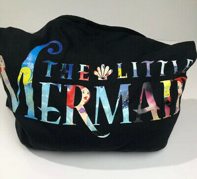 Disney The Little Mermaid Ariel Loungefly Crossbody Hobo Bag Purse Tote Black