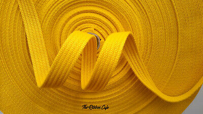 20mm soft spun polyester webbing yellow special dog lead webbing