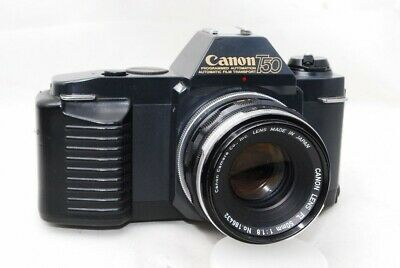 (6456) Canon T50 35mm SLR Film Camera with FL 50mm F1.8 Lens from JAPAN, EXC!!