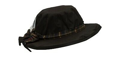 Ladies Wax Riding Thelma Bow Knot Hat W Tartan 100% Waxed Cotton FAULTY