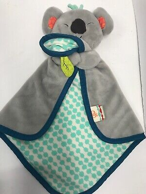 My B Toys Battat Snugglies Gray Koala Bear Koko Dot Security Blanket Baby Lovey