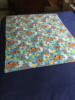Scooby Doo Quilt, Crib Or Toddler Handmade, Size. 40x35. EUC