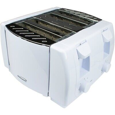 Brentwood Appliances TS-265 Cool Touch 4-Slice Toaster (White)