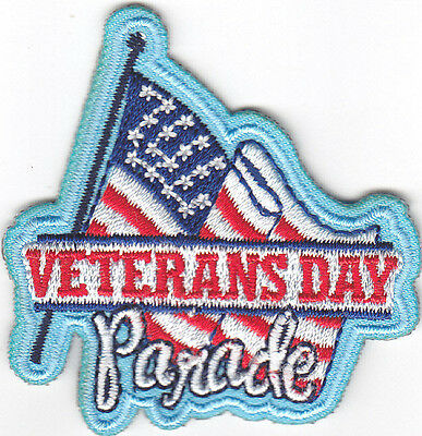 VETERANS DAY Iron On Patch Patriotic Holiday Patriotic Military