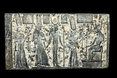 Ancient Civilization Relief Wall Plaque Egyptian Antique Stela W/T Hieroglyphics