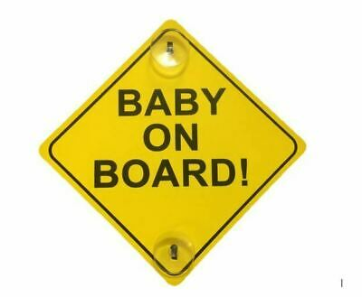 Strong Baby On Board Child Safety With 2 Suction Cup Car Vehicle Sign - Cheapest