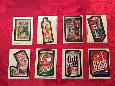 1974 Topps Wacky Packages Series 11 Lot Wacky Packs 11Th Lot Of 8