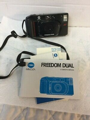 Vintage Minolta Freedom Dual AF 35mm Point & Shoot Camera - Fine with Manual