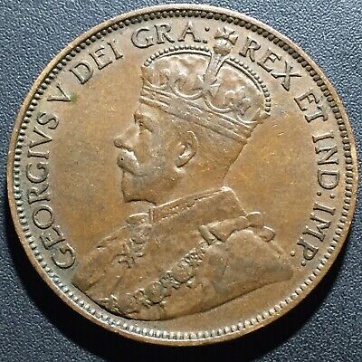 Old Foreign World Coin: 1913 Canada 1 Cent