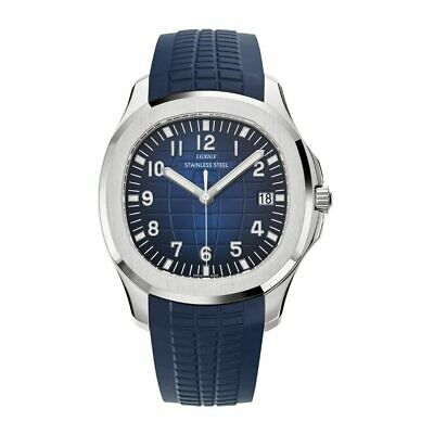 Men's New Swiss Aquanaut Nautilus Homage Watch Stainless Steel Rubber Strap