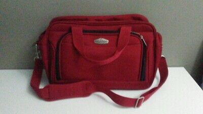 """Ricardo Beverly Hills Red Overnight Carry On Shoulder Bag Luggage Suitcase 16"""""""