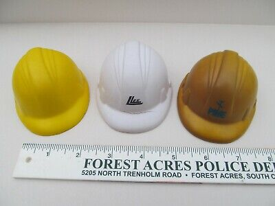 Yellow Hard Hats Stress Ball Toy PIKE  Squeezable Stress Relievers Squeeze Ball