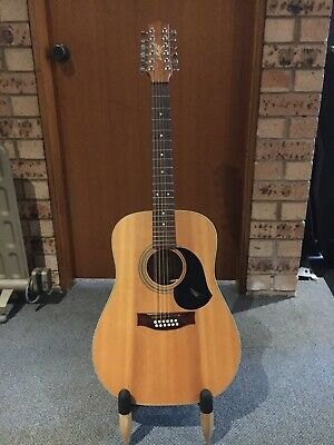 Maton CW80 12string guitar with AGA  pickup and  Hiscox flight case