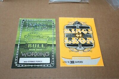 Kings of Leon  -   2 x Backstage Pass Unused - FREE SHIPPING