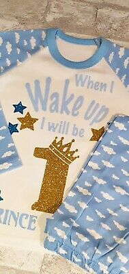 When I Wake Up  Pyjamas Children's Birthday Pjs Pyjamas personalised pyjamas