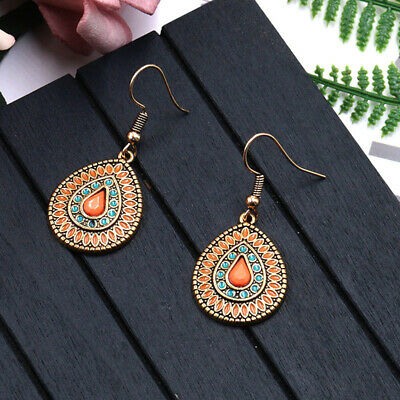 Fashion Women Bohemian Fringe Boho Long Tassel Ethnic Drop Dangle Earrings GR